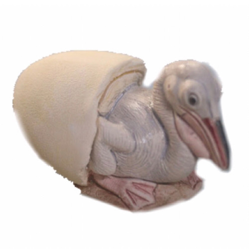Ceramic Hatching Pelican Figure