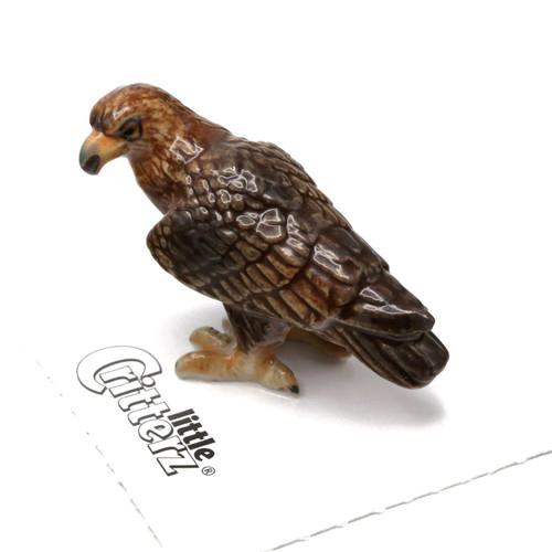 Miniature Golden Eagle Porcelain Figurine