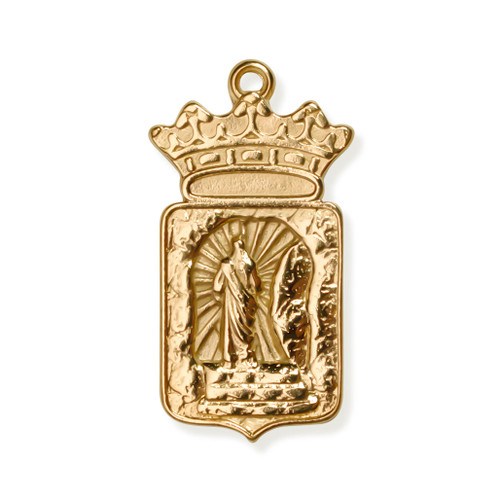 Third Day Crowned Pendant Gold FRONT