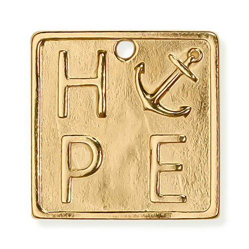 Hope Pendant Gold FRONT