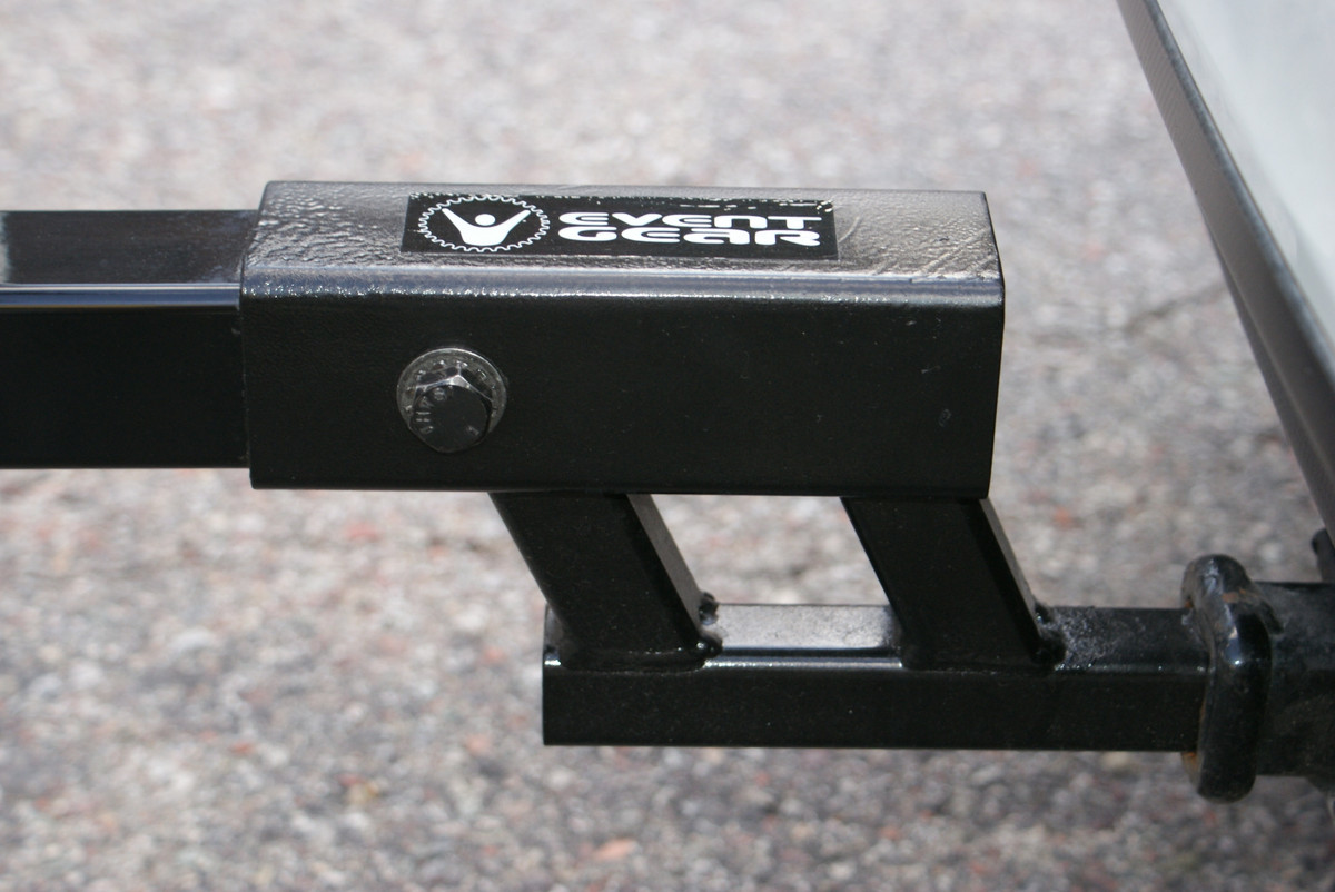 The Big Dog mounts tightly to your 1 and 1/4 inch hitch with an integral anti-wobble device in the stinger so your racks-or gear- don't sway or bounce