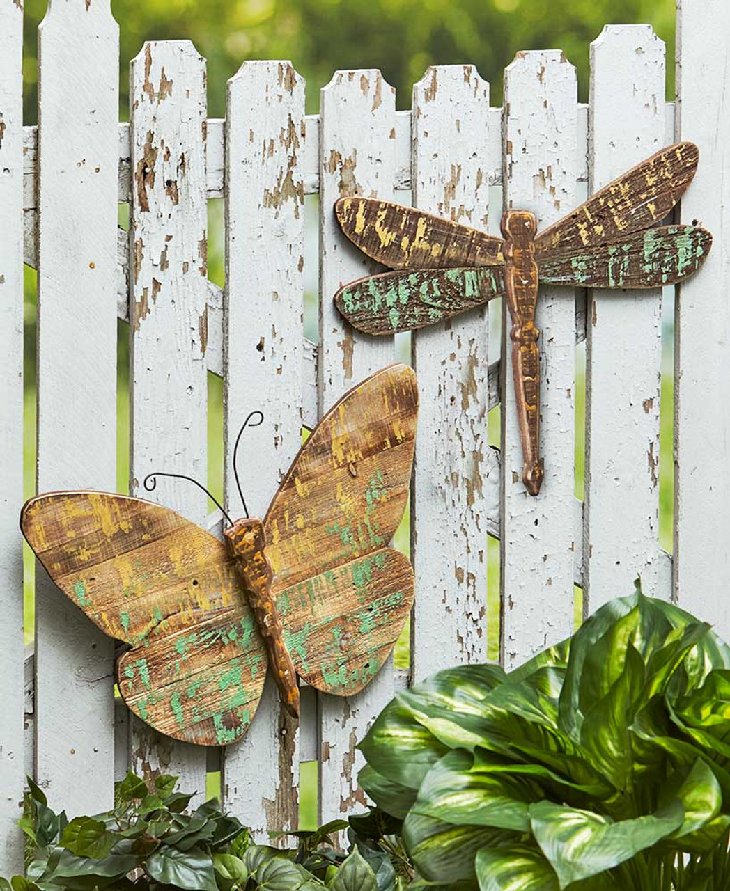 Distressed Pallet Wood Dragonfly Panel Garden Decor