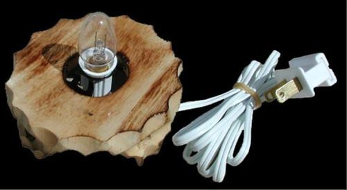 Wood Base Lamp cord set Free Shipping