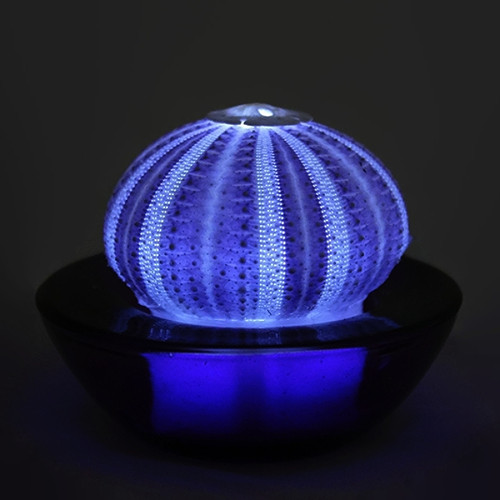 Purple Sea Urchin Tea Light Flicker Flameless LED Battery Operated