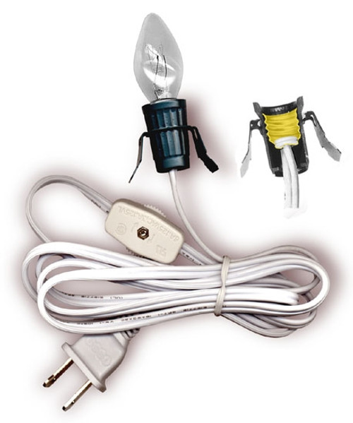 Lamp Cord Set with Snap-In Base Socket and Cord Switch