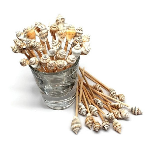 Seashell Toothpicks for Beach Wedding Shell Tiki Bar Parties