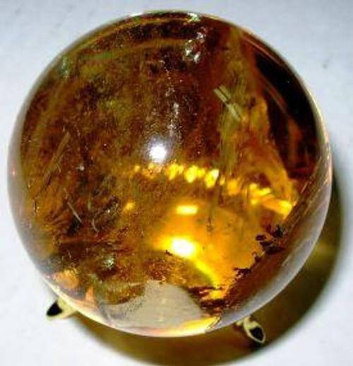 Citrine Crystal Sphere from Brazil 30-35 mm