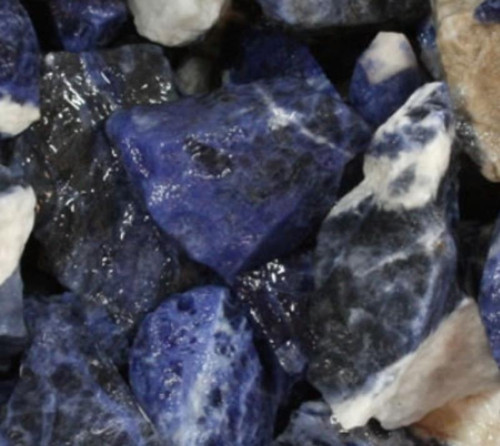 Blue Sodalite rough speciman 35-45 mm
