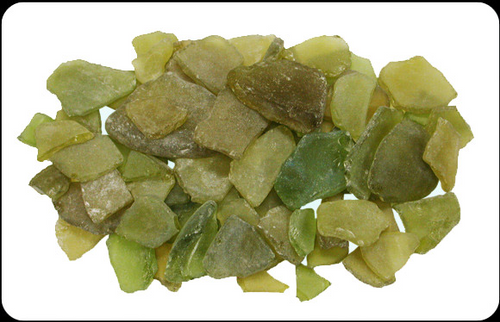 Beach Glass Yellow Green Color Sea glass 1 pound bags