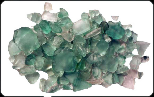 Beach Glass Lite Green Color Sea glass 1 pound bags