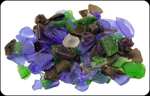 Beach Glass Dark Mix Color Sea glass 1 pound bags