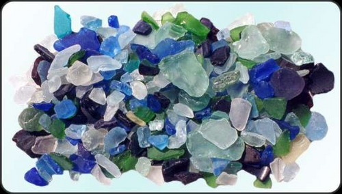 Beach Glass Mixed Lite Color Sea glass 1 pound bags
