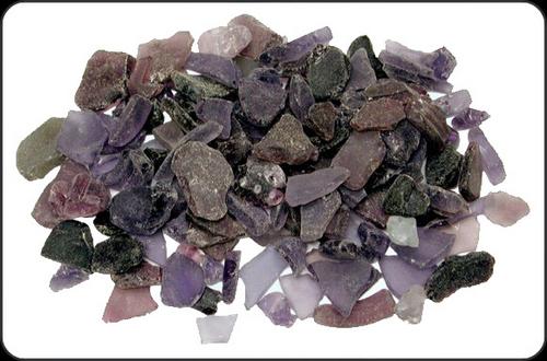 Beach Glass Dark Plum Color Sea glass 1 pound bags