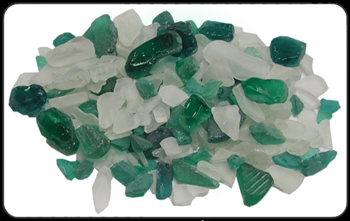 Beach Glass Lite Teal Color Sea glass 1 pound bags