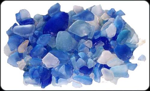 Beach Glass Lite Blue Color Sea glass 1 pound bags