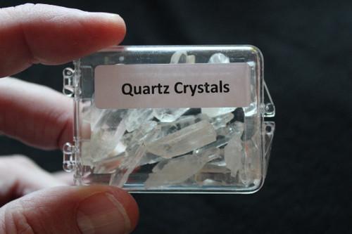 Acrylic Boxed Natural Quartz Points and Pcs