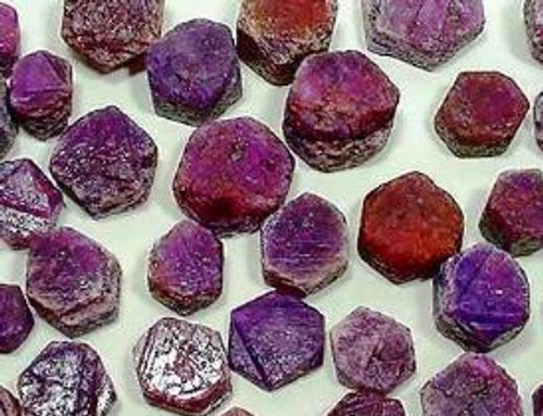 Ruby Crystals Record Keeper India 30-40 mm India Sold each