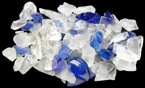 Beach Glass Lite Blue Color Sea glass 1 Kilo bags