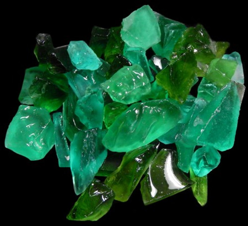 Sea Beach Glass Emerald Color Sea glass 1 Kilo bags