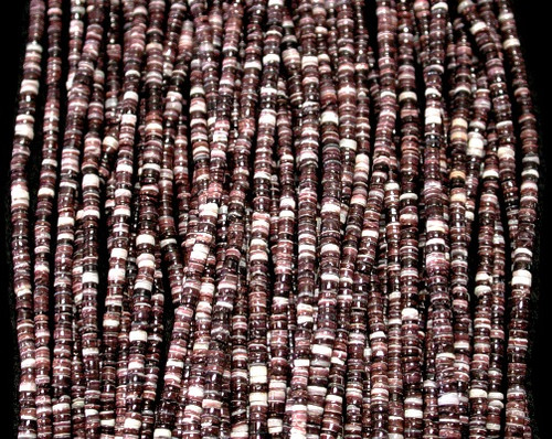 Oyster Shell Heishi Beads (24 Inch Strand) 2-3mm Free shipping