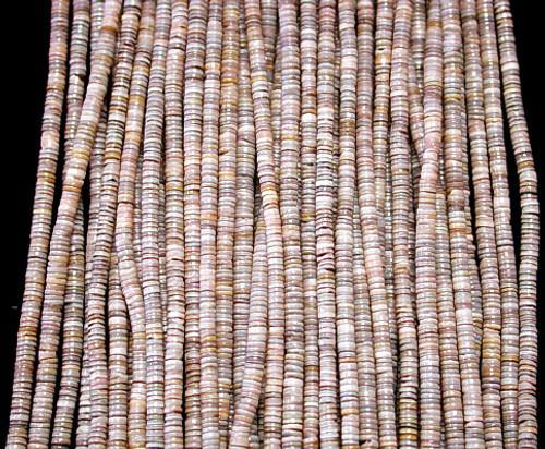 Pen Shell Heishi Beads (24 Inch Strand) 2-3mm Free shipping