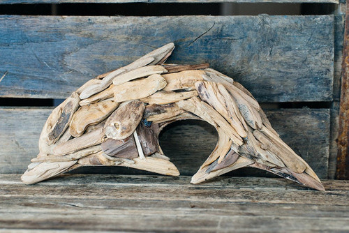 Driftwood Dolphin Home Decor Free Shipping