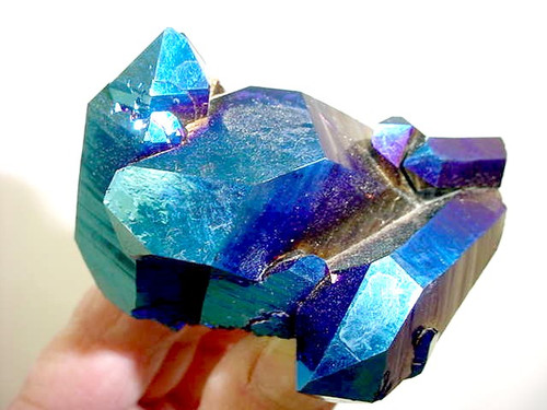 "Cobalt Titanium Quartz Cluster 3"" x 2"" Free shipping 1 only"