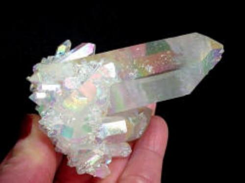 """Opal Rainbow Titanium Quartz Cluster  3"""" x 2"""""""