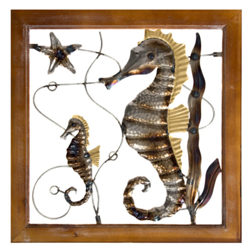 "Seahorses Wall Decoration 19"" High Free Shipping"