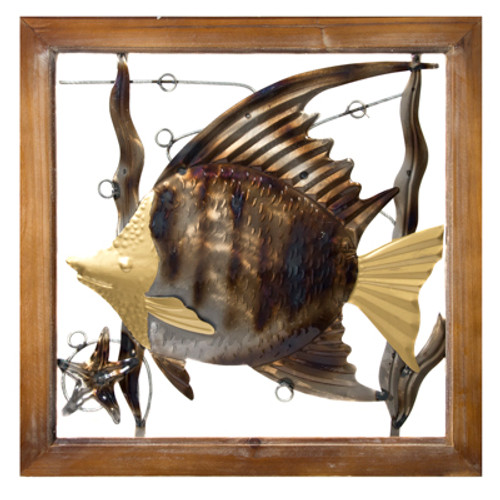 "Angel Fish Wall Decoration 19"" High Free Shipping"