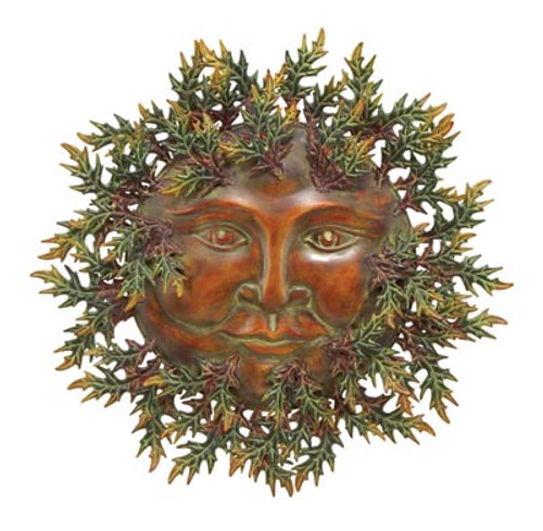 "Green Man Wall Decoration 20"" Wide Free Shipping"