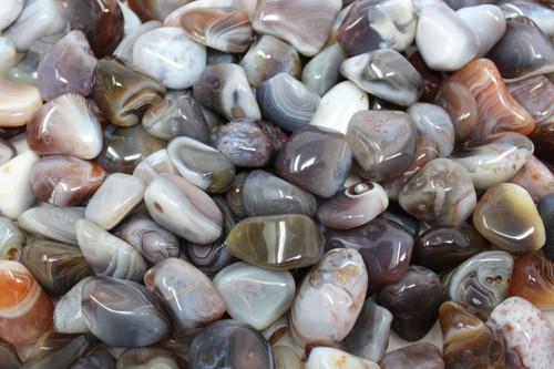 1/4 lb Botswana Grey Agate Tumbled Stone Crystal Healing Gemstone