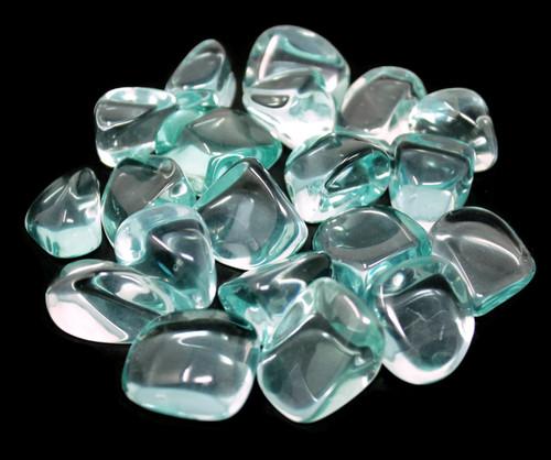 5 Blue Aqua Obsidian Tumbled Stones - Crystal Reiki Chakra