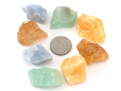 Calcite, Natural, Assorted Colors, Med Size - 50 Pieces