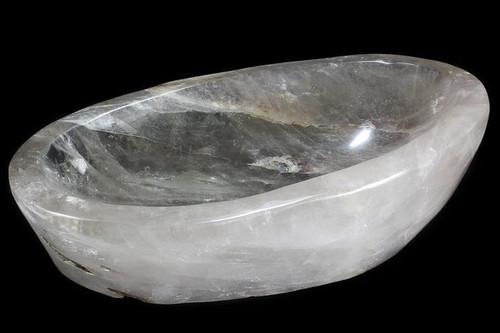 "Huge 18"" Polished Quartz Bowl - Madagascar 34 lbs"
