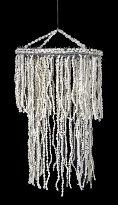 """Shell Chandelier Wind Chime - Jellyfish with Nassa Shells 24"""""""