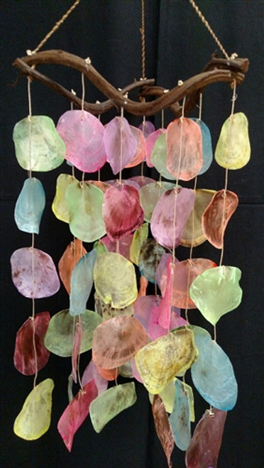 "Dyed Placuna Shell Wind Chime 12"" x 24"""