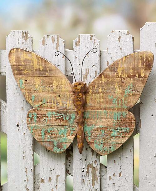 Wood Butterfly Panel Garden Decor