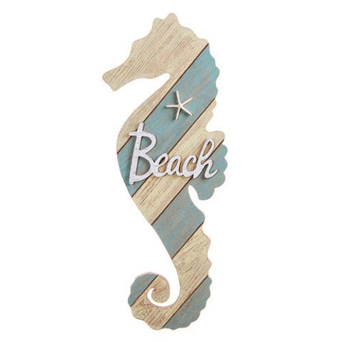 "Large Seahorse Beach Sign 22"" Beach Decor"