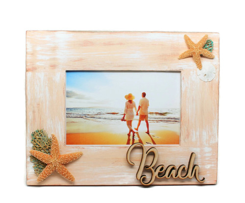 Beach Wood Picture Frame 4 x 6  Photo Frame Handemade