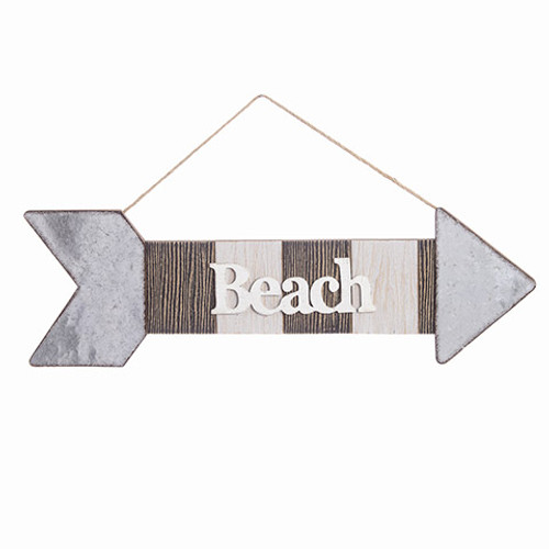 "Beach Direction Arrow Wall Decor 21""  BytheSea"