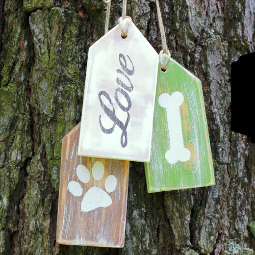 Wood Hang Tags hand made Sign Rustic Decor