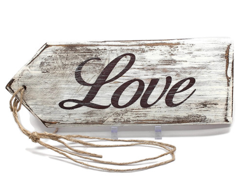 Love Wood Hang Tags hand made Sign Rustic Decor