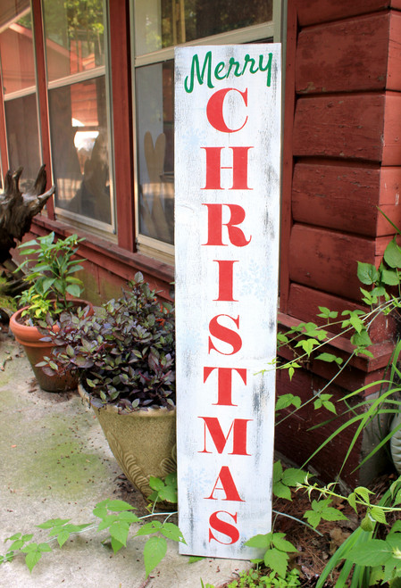 """Merry Christmas Wood Sign 48"""" vertical sign,"""