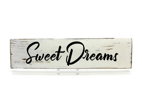 """Rustic White Wood Sign """"Sweet Dreams"""" Sign Country Decor"""