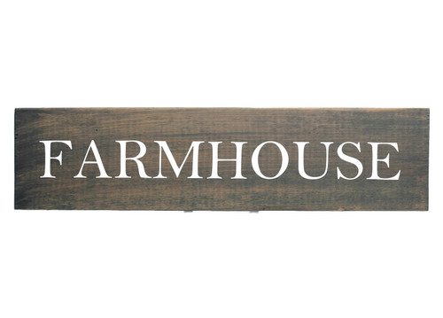 """Rustic Grey Wood Sign """"FARMHOUSE"""" Sign Country Decor"""