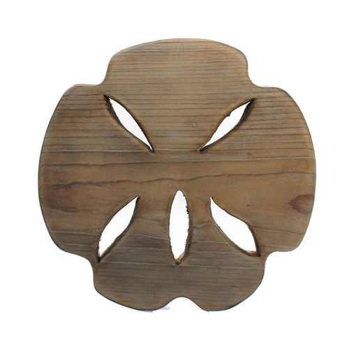 Wood Rustic Sand Dollar