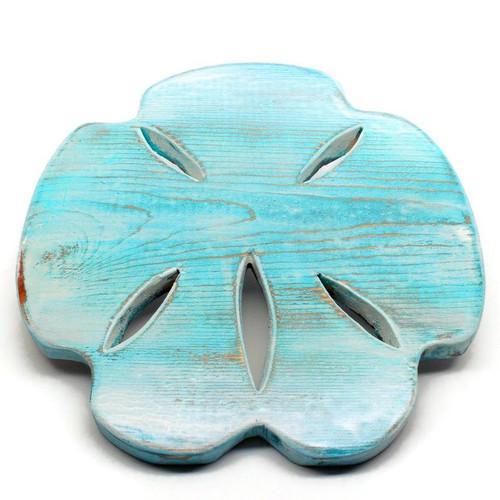 "Handmade Distressed Wood Sand Dollar 10"""