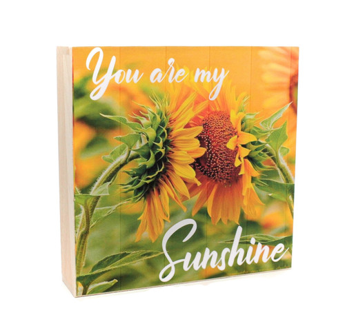 You are my Sunshine Motif Wood Table Sign, Farmhouse Decor
