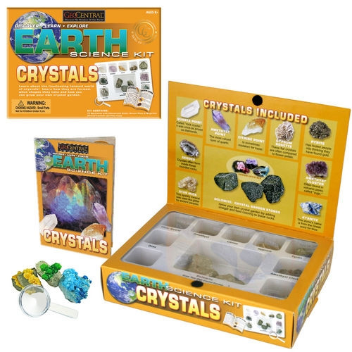 Crystal Earth Science Kit FREE SHIPPING Great Teaching Tool